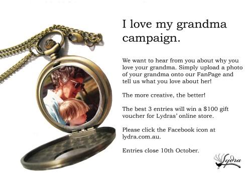 I love my grandma campaign