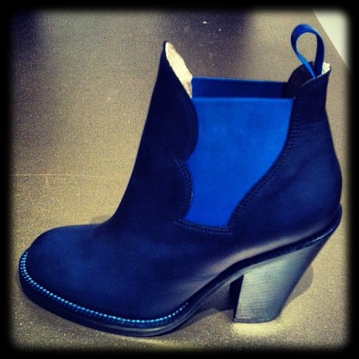 Acne Studios Star boots in blue