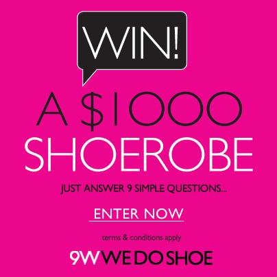Win $1000 Shoerobe