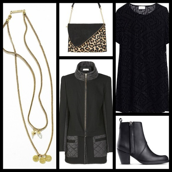How to Wear Winter Black - Contrast and Accessorise via @houseofturtle