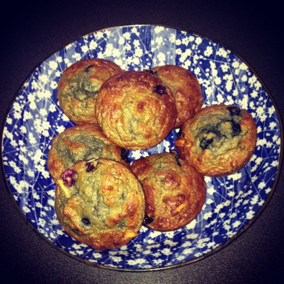 The Well Nest Paleo Coconut Flour Blueberry Muffins via @houseofturtle
