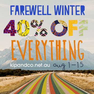 Kip & Co Farewell Winter Sale - 40% of Everything via @houseofturtle